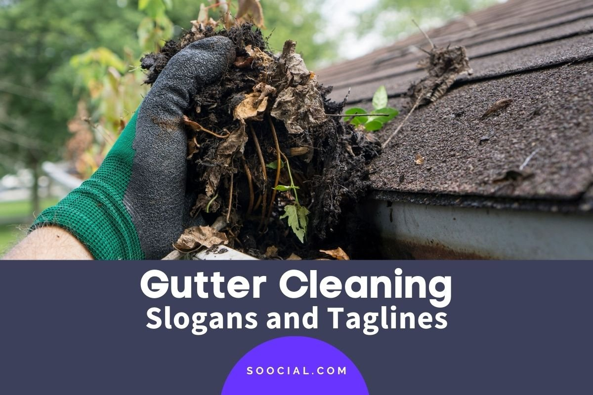 Gutter Cleaning Slogans