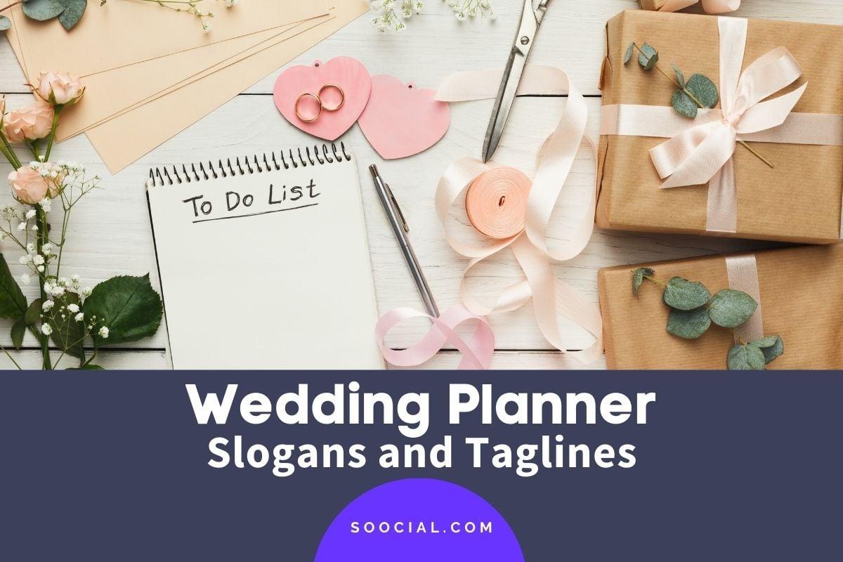 Wedding Planner Slogans
