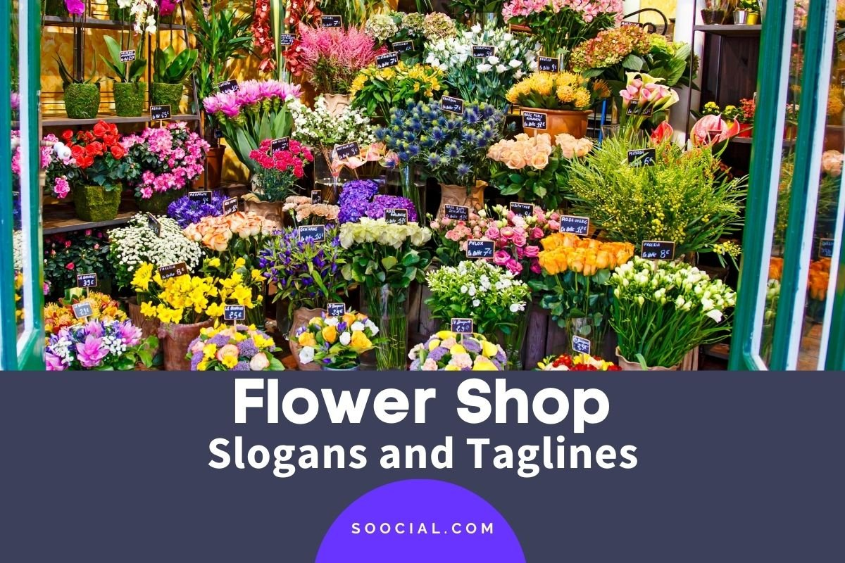 flower shop slogans