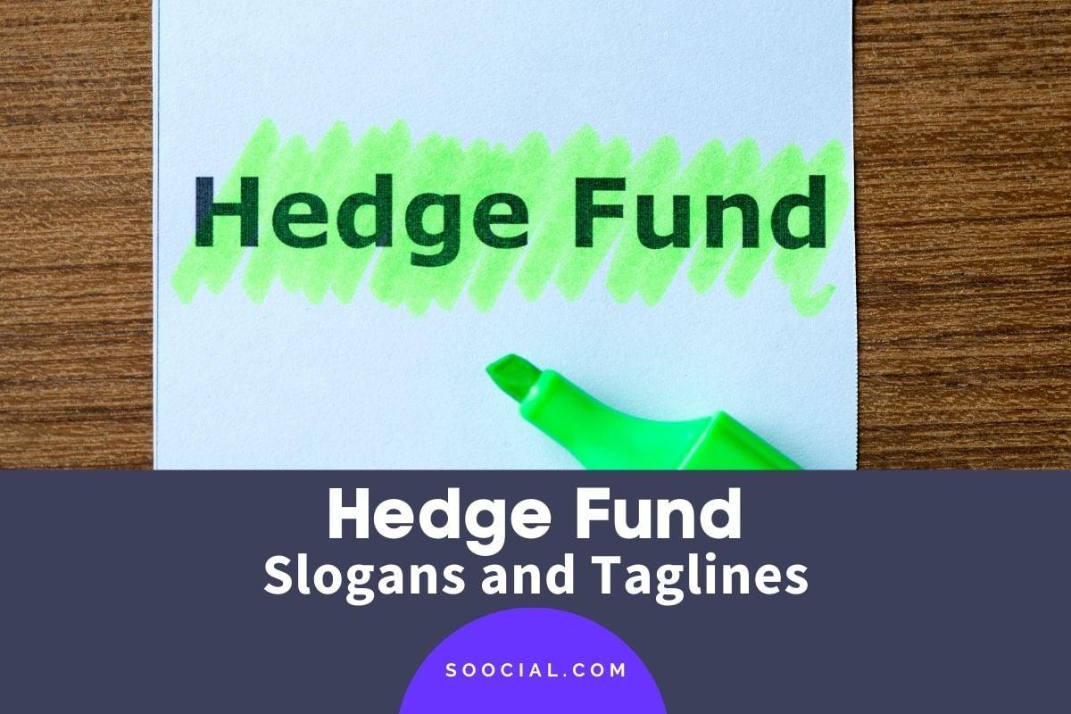 hedge fund slogans