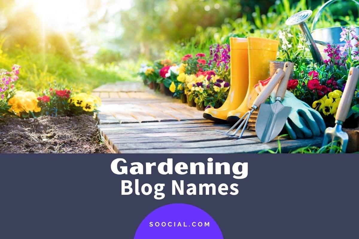 Gardening Blog Names
