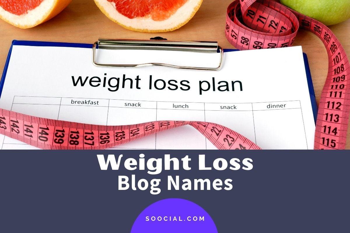 Weight Loss Blog Names