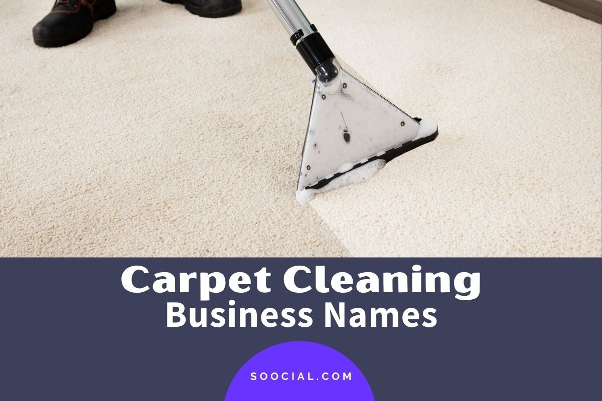 Carpet Cleaning Business Names