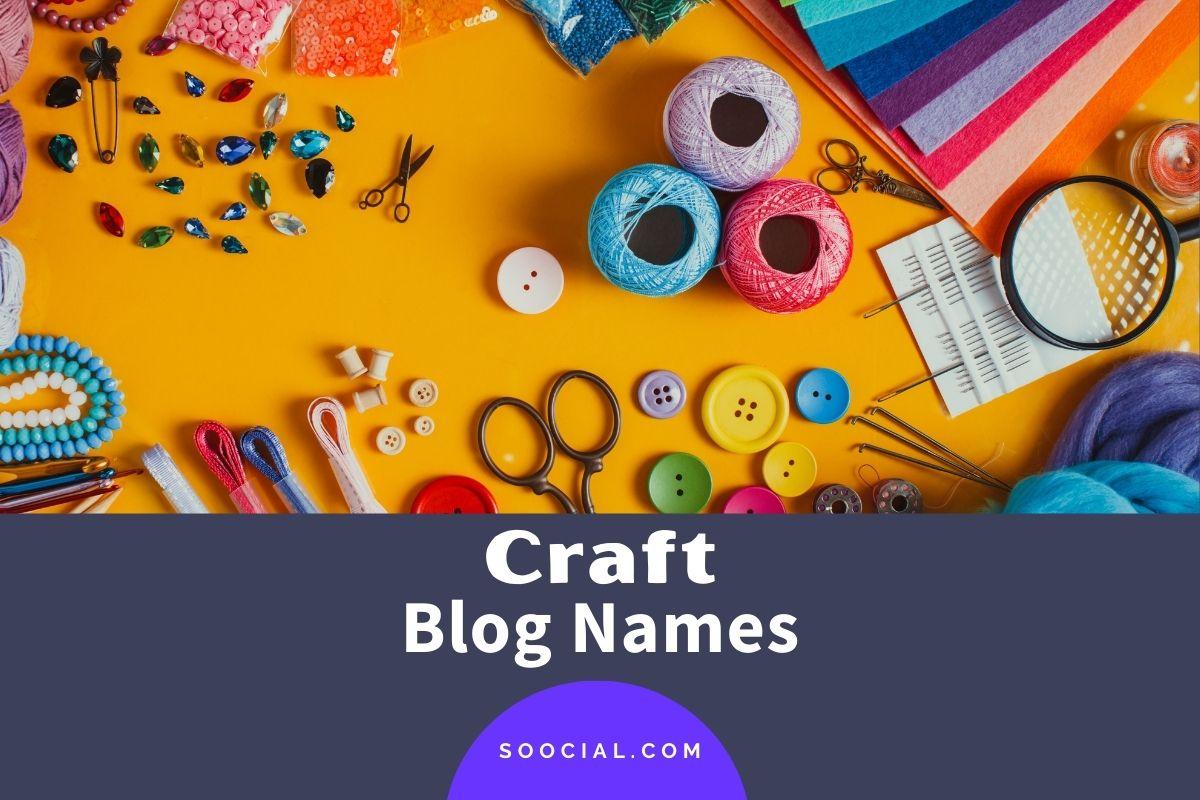 Craft Blog Names