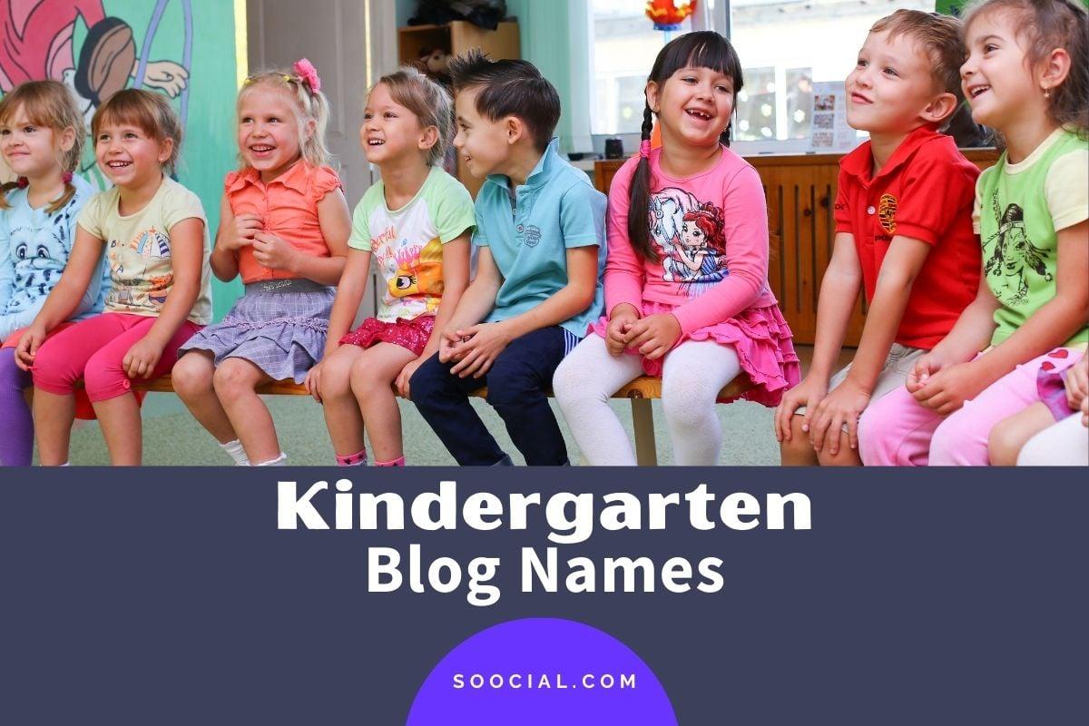 Kindergarten Blog Names