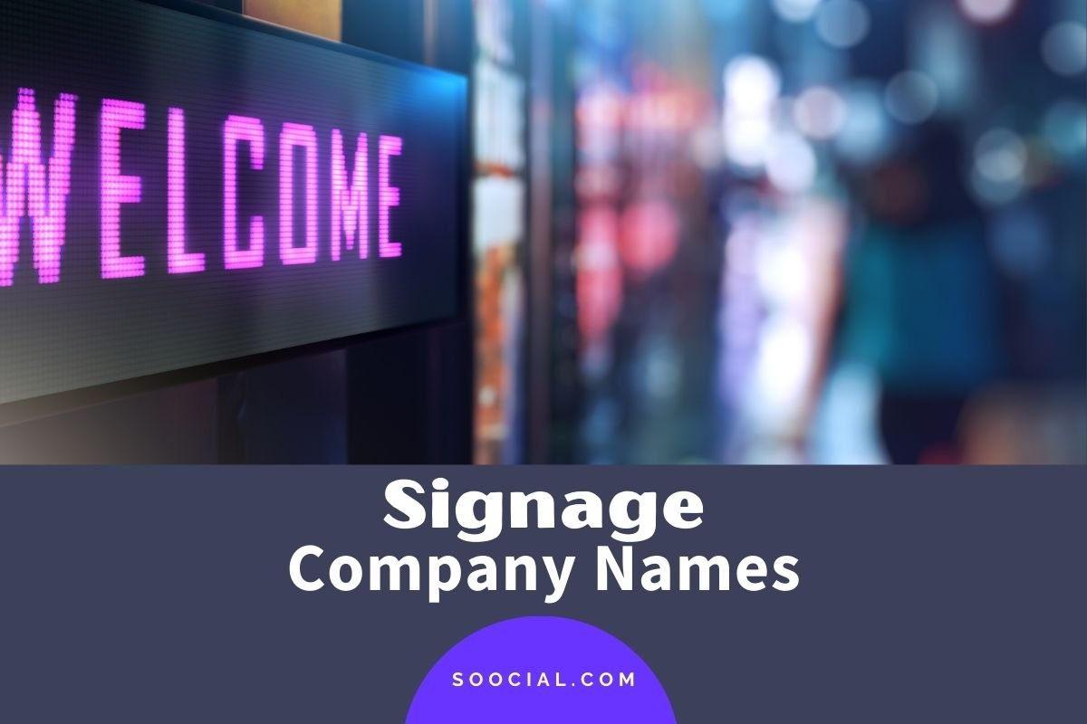 Signage Company Names