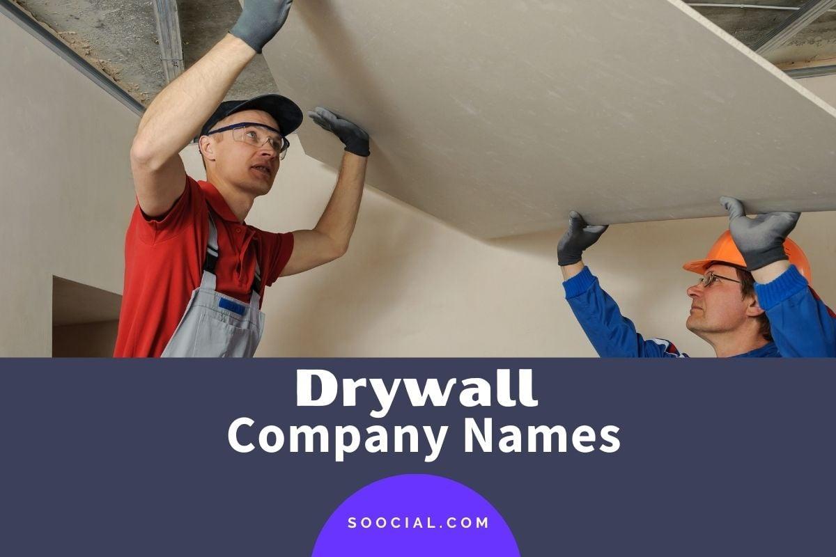 Drywall Company Names