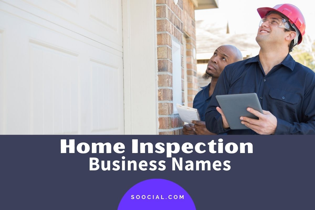 Home Inspection Business Names