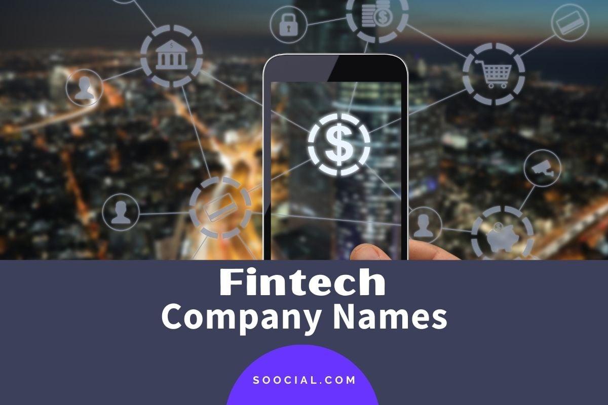 Fintech Company Names