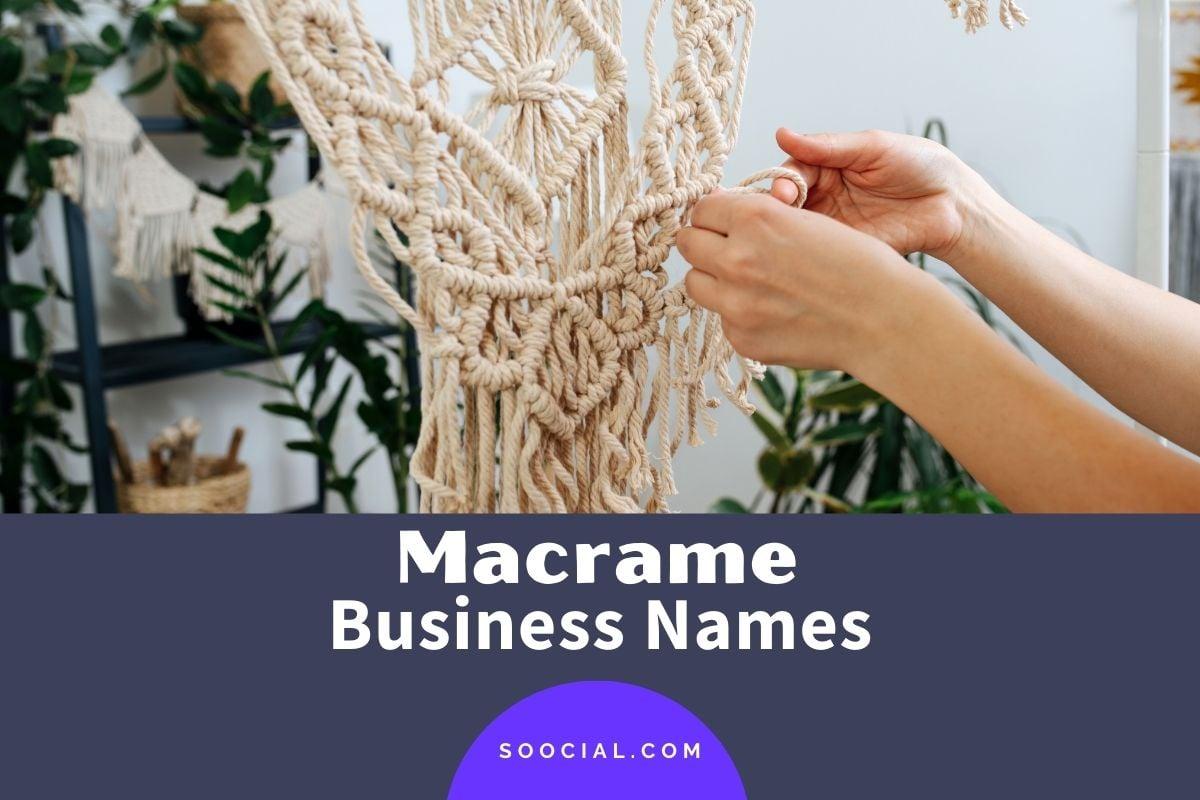 Macrame Business Names