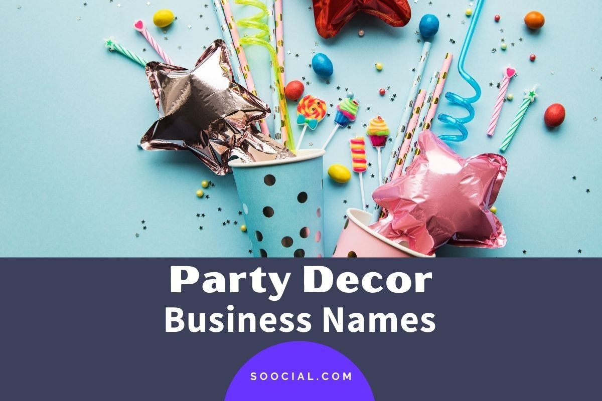 Party Decor Business Names