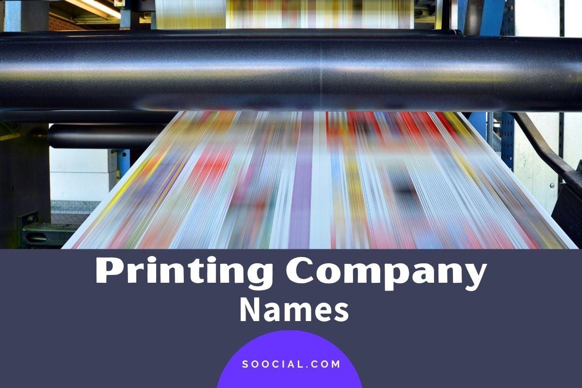 Printing Company Names