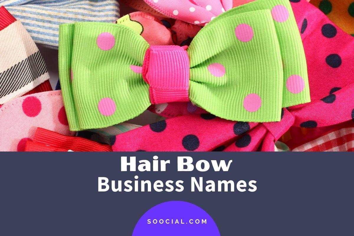 Hair Bow Business Names