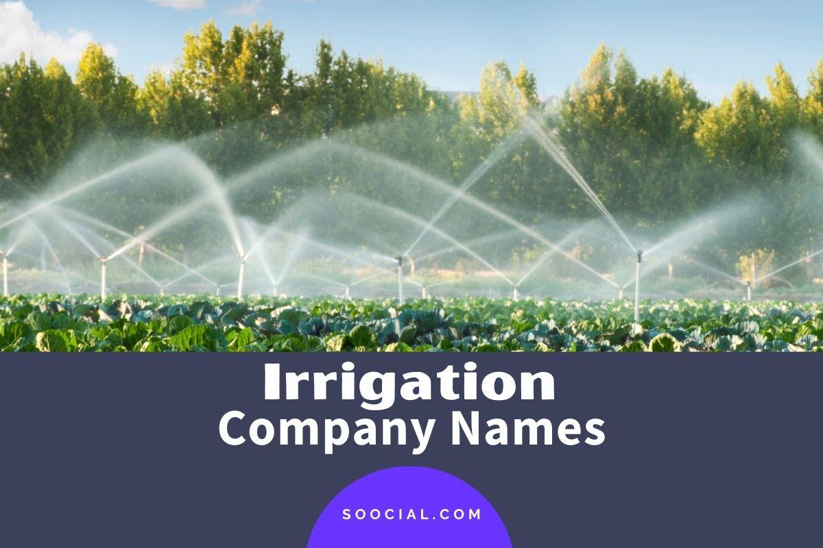 Irrigation Company Names