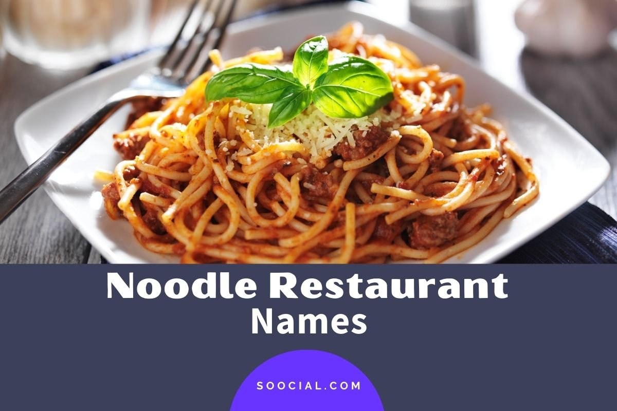 Noodle Restaurant Names