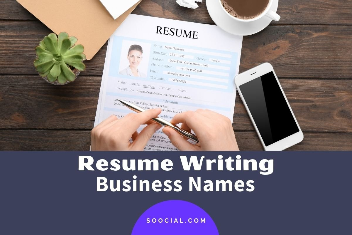 Resume Writing Business Names