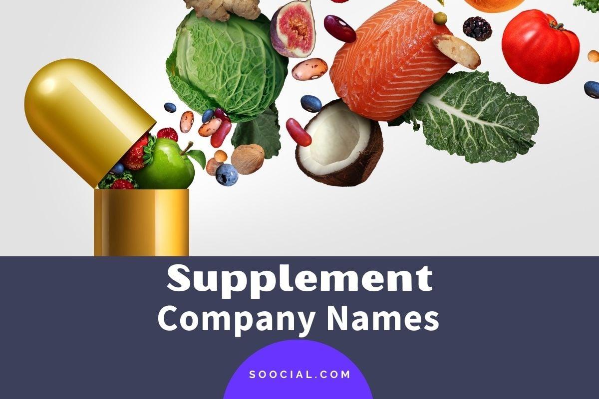 Supplement Company Names