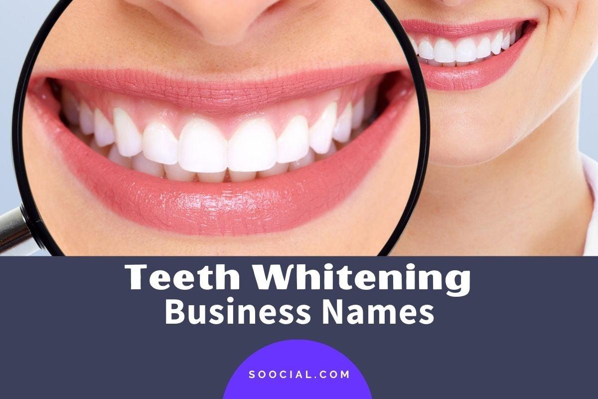 Teeth Whitening Business Names