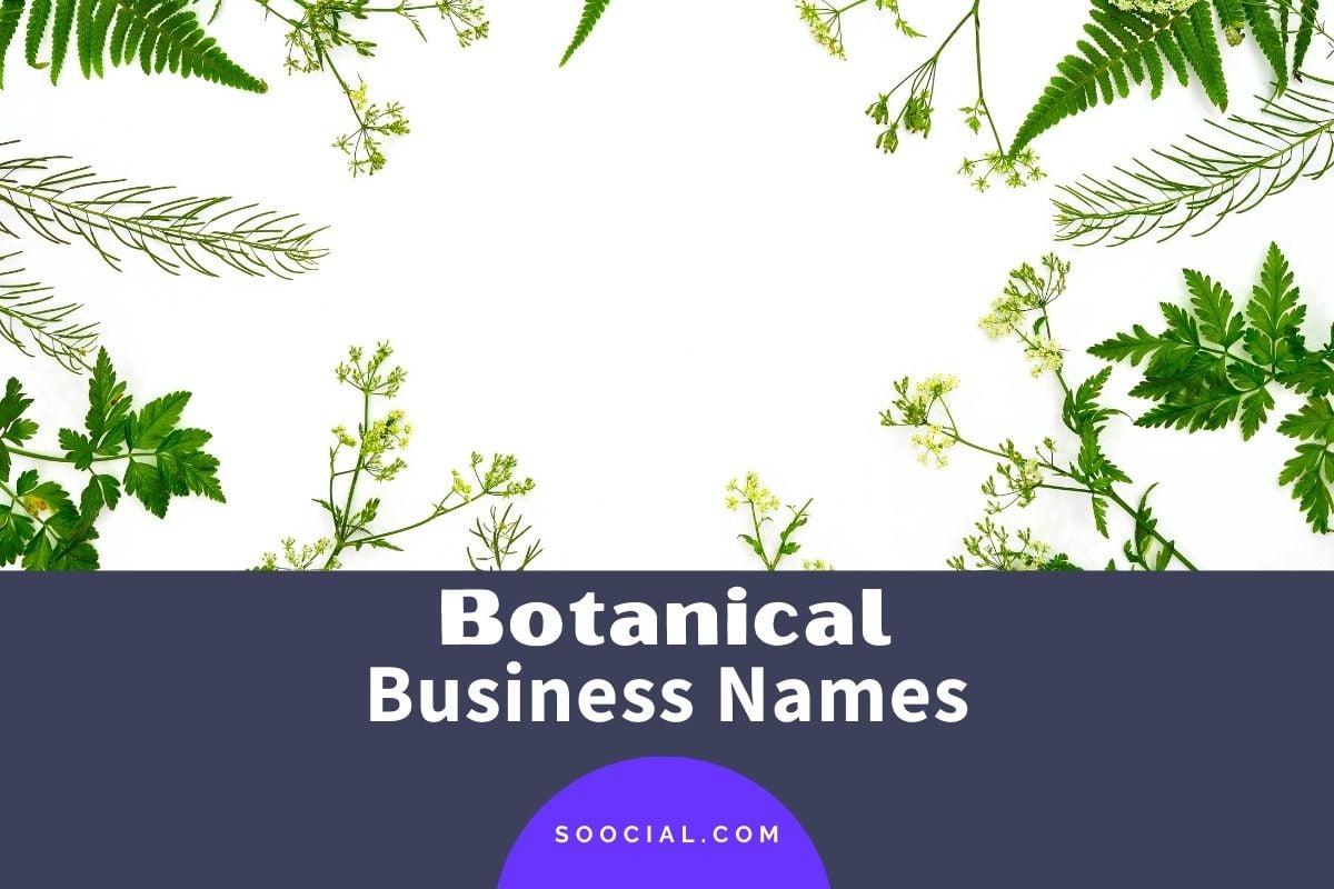 Botanical Business Names
