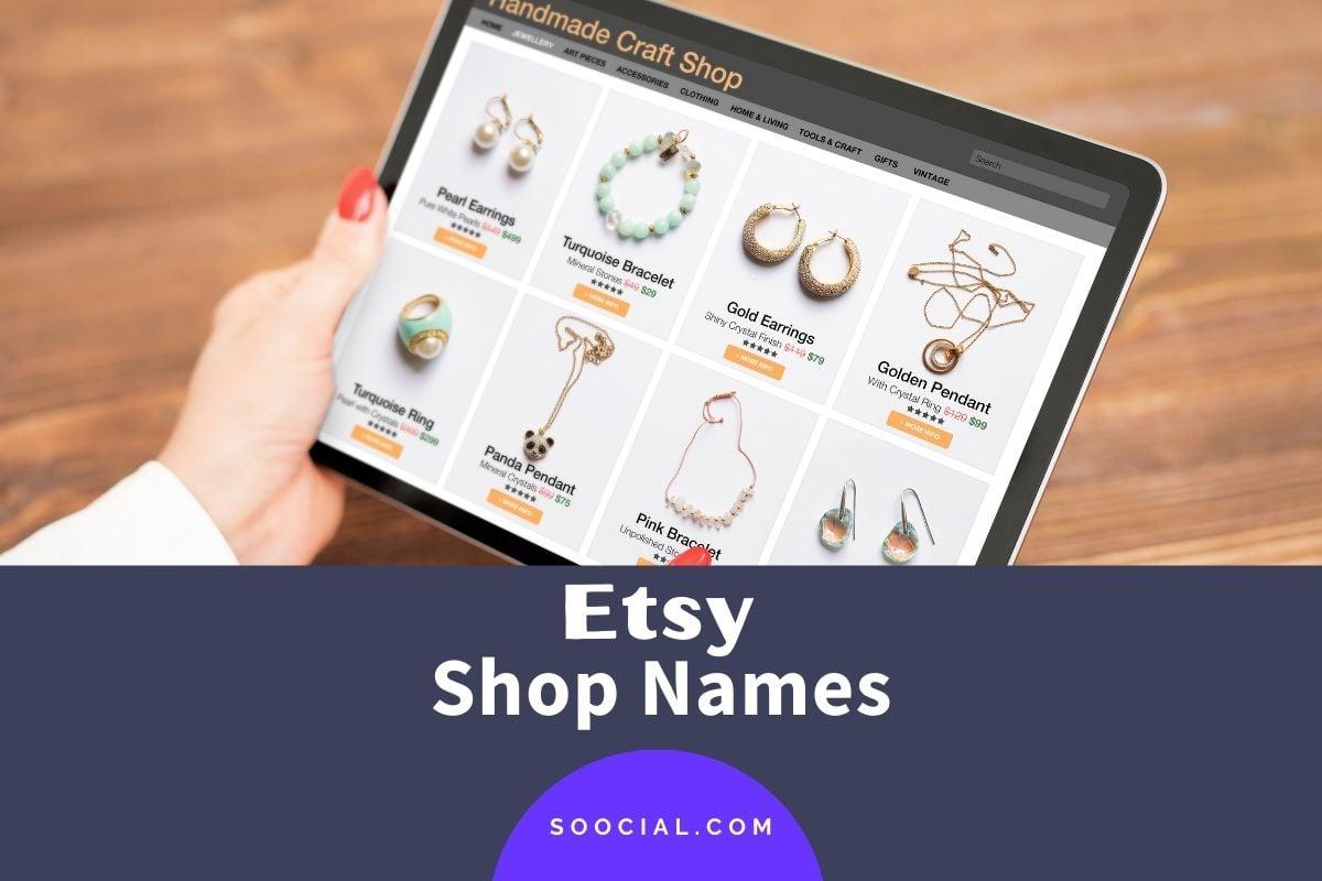 Etsy Shop Names