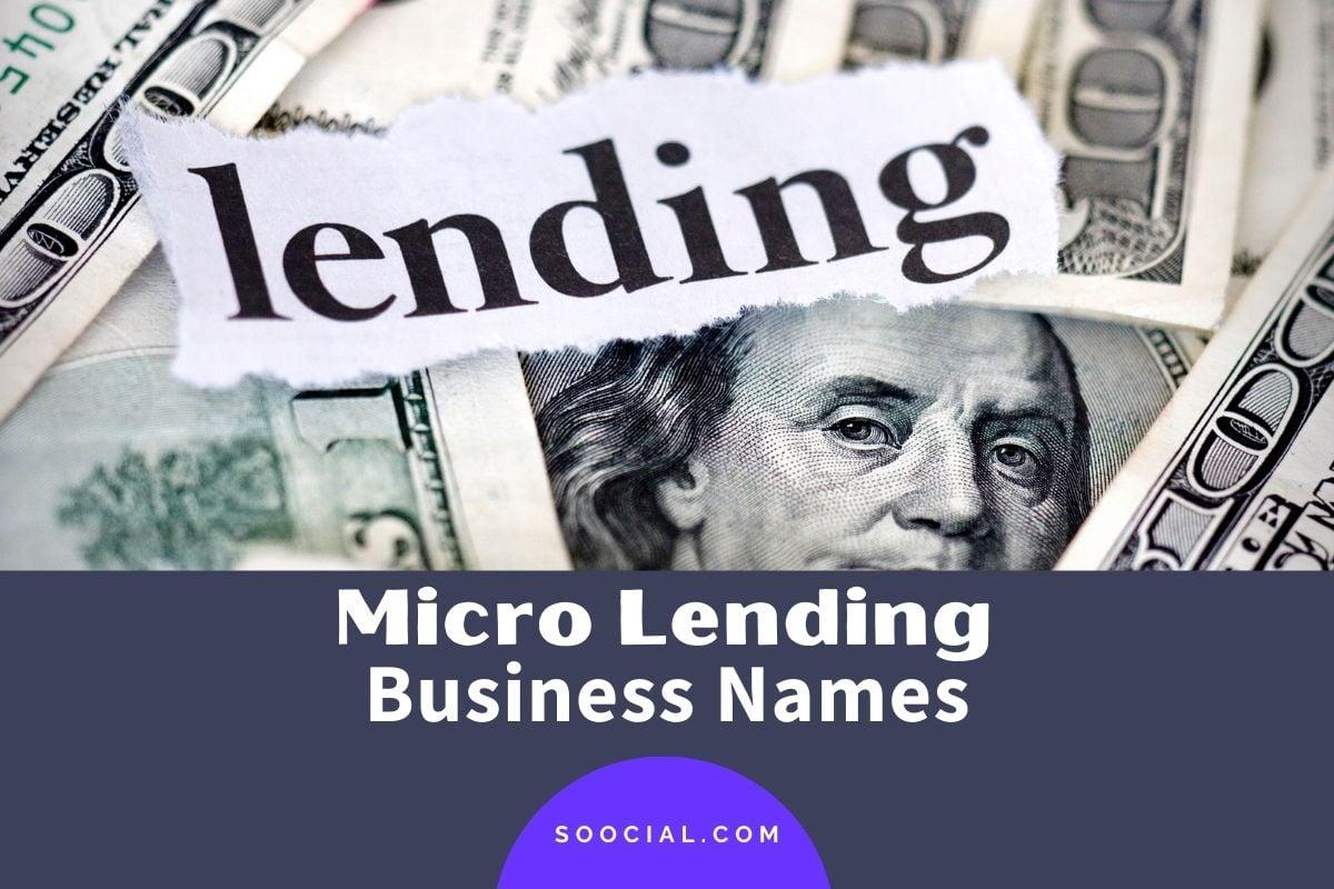 Micro Lending Business Names