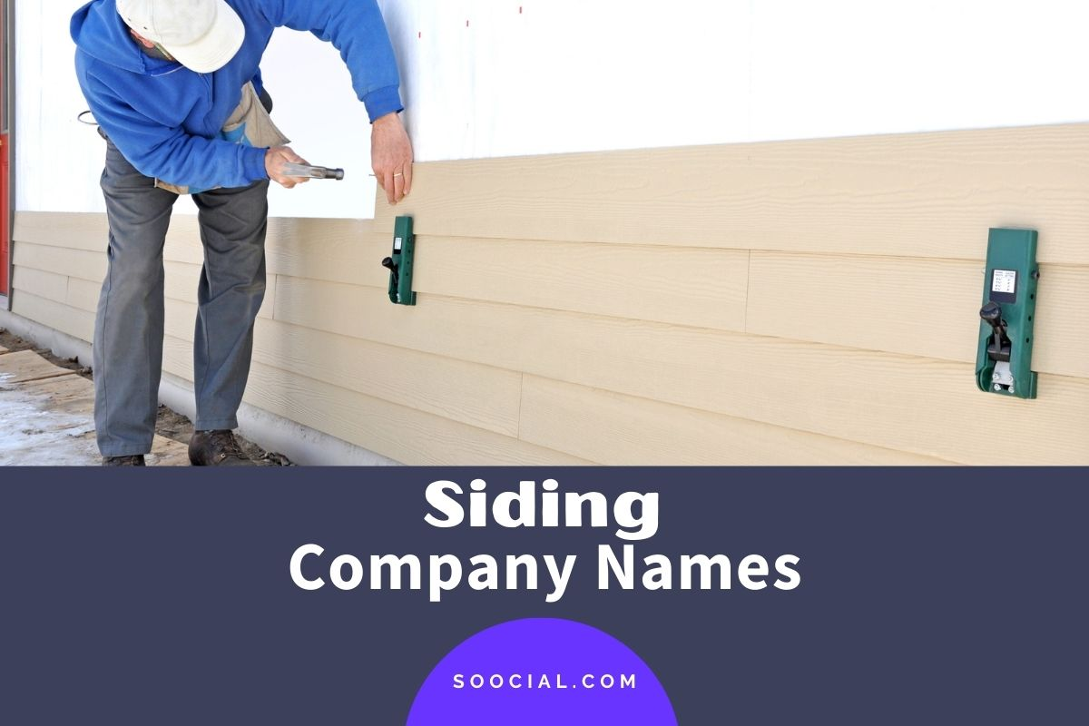 Siding Company Names
