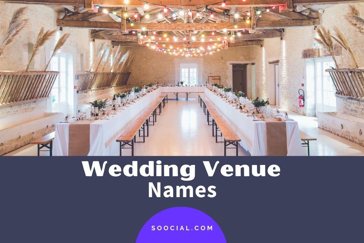 Wedding Venue Names