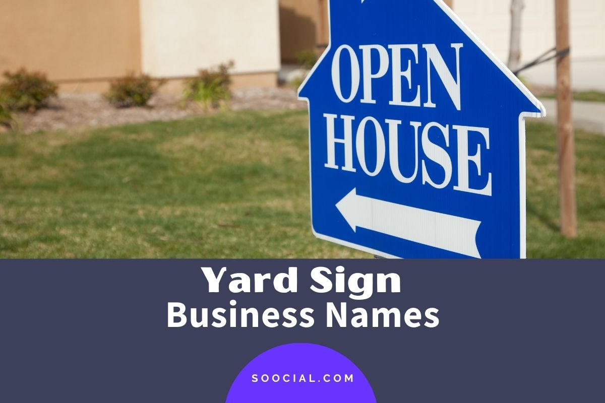 Yard Sign Business Names
