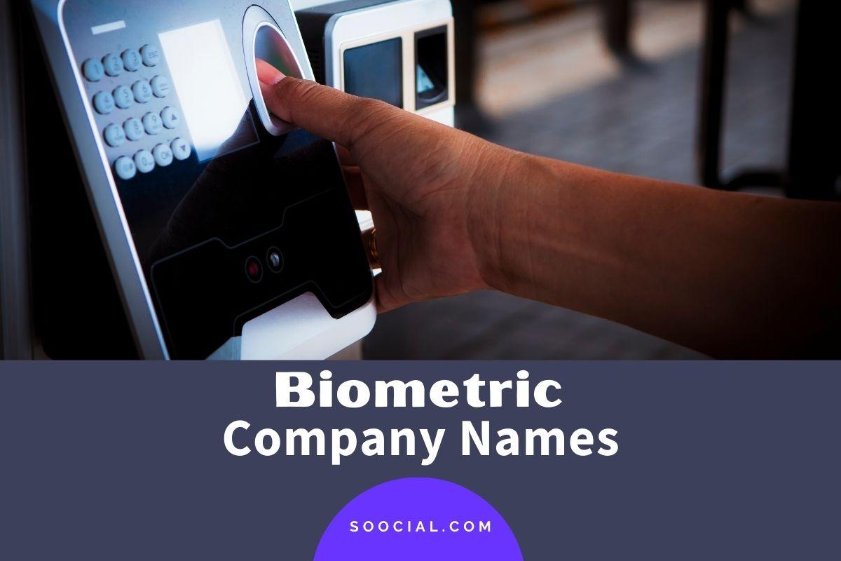 Biometric Company Names